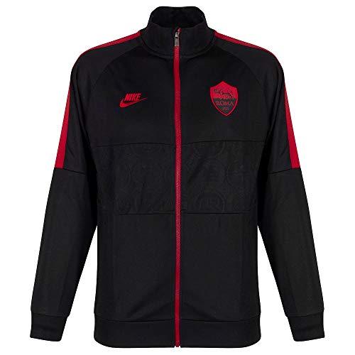 NIKE A.S. Roma Chaqueta, Hombre, Black/Black/Team Crimson/Team Crimson, XL
