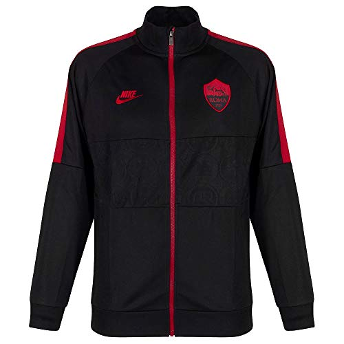 Nike A.S. Roma, Giacca Uomo, Nero/Nero/Cremisi (Team Crimson/Team Crimson), M