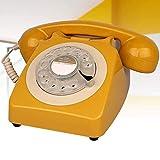 BGSFF Modernes schnurgeb&enes Handy, Wild Wood Retro-Handy Wähltelefone/Retro-Handy/Vintage-Handy/klassisches Schreibtischtelefon mit Wählscheibe Verwendet Standard-Telef