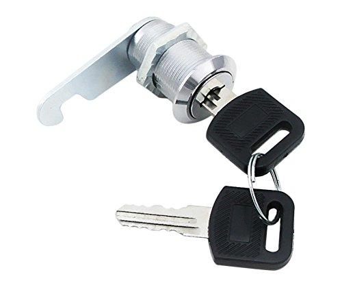 CAOLATOR.Cerradura para Buzón Muebles candados Cilindro CAM Lock Cerradura de los Muebles Bloqueo de Gabinete con 2 Llaves- 22x20mm con 2 Llaves Nuevo