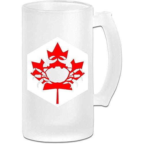 Jarra de cerveza Stein de vidrio esmerilado de Cancer Canada - Taza de pub personalizada personalizada - Regalo para su bebedor de cerveza favorito