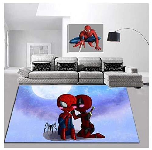 WallDiy Spider Man Mode Chambre Tapis Baie vitrée Tapis de Chevet Lavable personnalité Couverture dégradé Couleur Salon Tapis