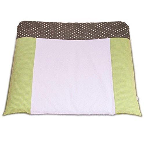 Coussin pour table à langer avec housse en coton lavable–Matelas à langer Carreaux Vert