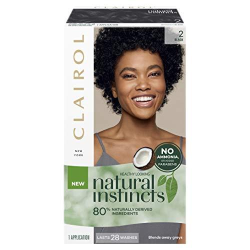 Clairol Natural Instincts Semi-Permanent Hair Color, 2 Black, 1 Count
