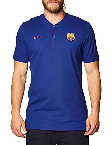 Nike Herren Poloshirt Sportswear FC Barcelona, Deep Royal Blue/Noble Red/Noble Red, M, CK9330-457