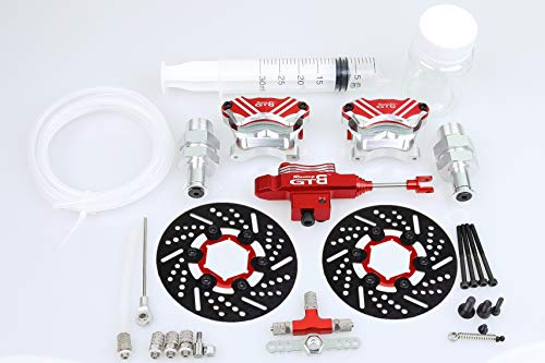 GTB New Metal Front Wheel Hydraulic Brake System Kit with Steel Disc for 1:5 Scale RC 1 5 Gas Car HPI Rovan KM Baja 5b 5t ss 5sc