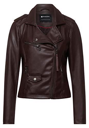Street One Damen Fake-Lederjacke aus PU red Brown 36