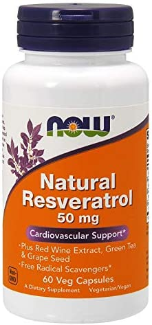 Now Foods Natural Resveratrol 50 Mg 60 Vcaps product image