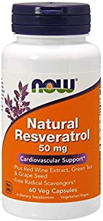 Now Foods Natural Resveratrol 50 Mg 60 Vcaps