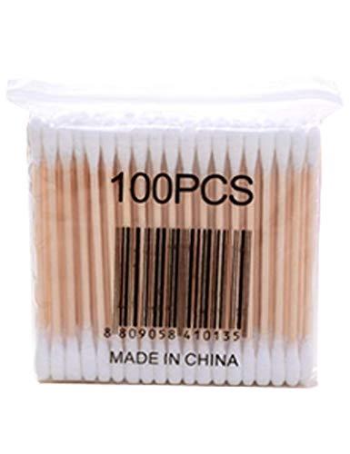 Jueshanzj Cotons-tiges 100 Pièces en Bambou Nettoyage pour Soins et Oreille Huapan Coton Tige Biodégradable Blanc + 1 Packs 8cm