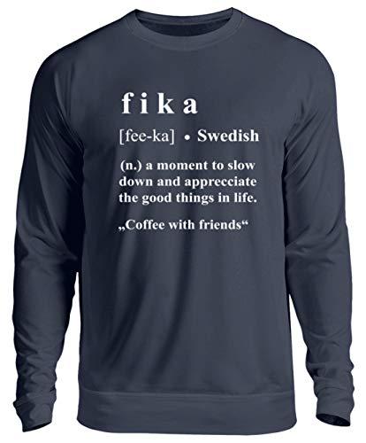 Schwedisch Wörterbuch Schweden Kaffee Kaffeetrinker Vokabeln Geschenk - Unisex Pullover -S-Oxford Navy