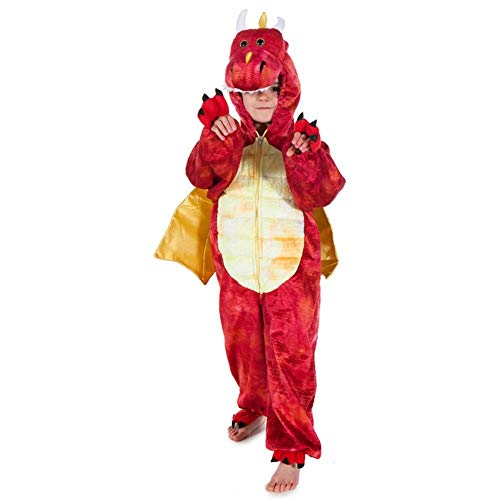 Red Dinosaur Dragon - Kids Costume 3 - 5 years