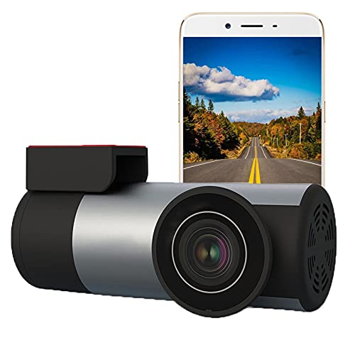 BMDHA Dashcam,Sensores Aparcamiento Coche RotacióN De 360 ° De La Lente Bloqueo De ColisióN,Camara Vigilancia Coche HD 1080p Vision Nocturna Camara Coche Mini Oculto Camara para Coche
