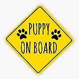 Puppy On Board Vinyl Waterproof Sticker Decal...