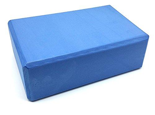 Myyogawheels yoga pilates schiuma blocco singolo esercizio mattoni ad alta densità–aiuta a migliorare l' equilibrio, EVA leggera e la forza 6x 9x 3IN, Blue