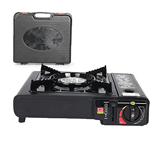 Estufa de Gas compacta Camping Estufa con Cocina de Cartucho de Encendido piezo Robusta con protección contra sobrecalentamiento