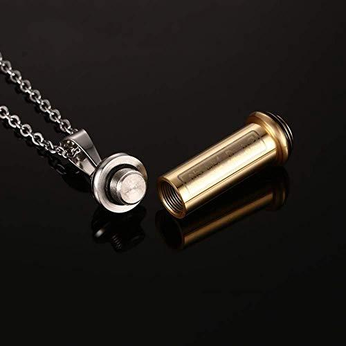 XIAOMA Gebed Schrift Buis Parfum Fles Hanger Ketting Voor Heren Vrouwen RVS as Memorial Keepsake