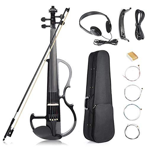 TBTBGXQ Violín 4/4 Eléctrico Madera de Arce Instrumento de Cuerdas con Accesorios...