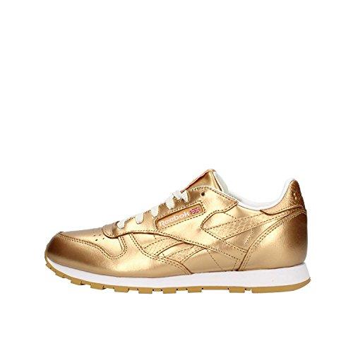 Reebok Classic Leather Metallic, Zapatillas de Running Mujer, Dorado (RBK Brass/White), 38 EU