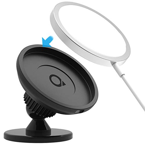 Quarble Dashboard Car Mount Compatible with Magsafe Charger 360° Rotation Holder Super Stable