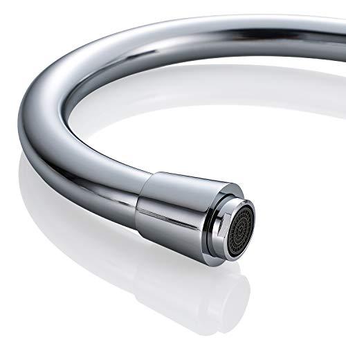 AuraLum Elegant Mischbatterie Küchenarmatur 360° drehbar Schwenkbarer Wasserhahn Armatur für Küche Waschbecken - 4