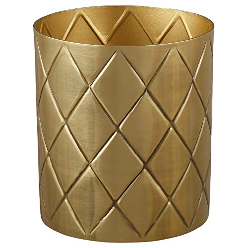 My- Stylo Collection Vase, goldfarben, 13 cm, Material: Aluminium, getönter Klarlack.