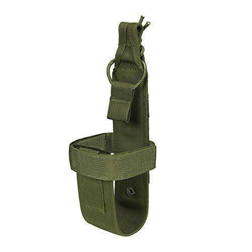 PHOENIX IKKI ベルト調整可能 シンプル 携帯便利 ハンディ Molleモール対応 タクティカル ミリタリー 水筒ポーチ ペットボトルホルダー ボトルケース グリーンS