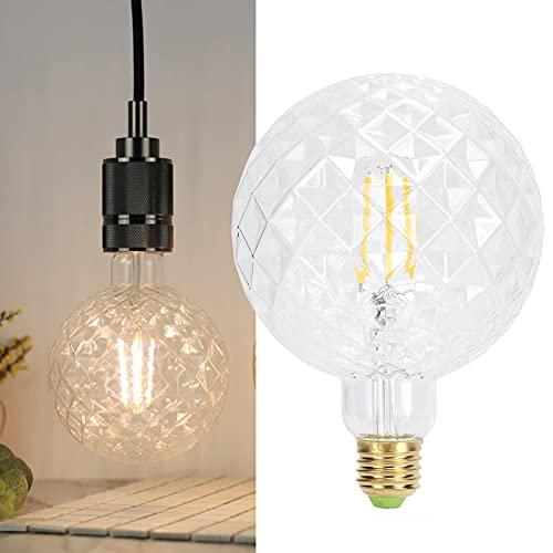 Bombilla de filamento, alta transmitancia de luz y filamento flexible E27 4W Lámpara decorativa de vidrio LED vintage Bombilla de luz para sala de estar para dormitorio(Transparent, pink)