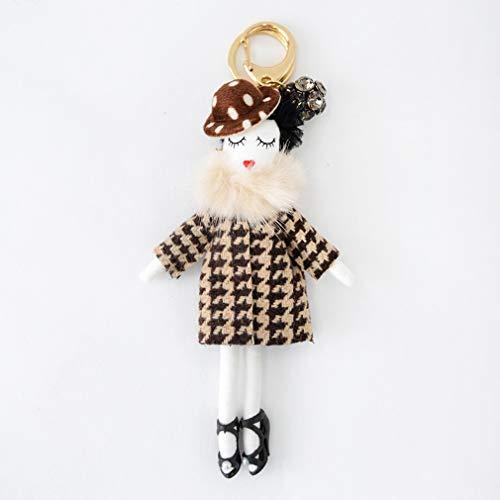バッグチャーム 大人 かわいい オシャレレディードールチャーム レース ビジュー サングラス 人形 大人 キーホルダー 女の子 アフロ バックチャーム レディース レデイース キ-ホルダ- バッグ チャ-ム vnsa-c493 (G)