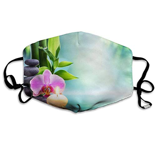 Upgrade Reusable Mask - Washeable Face Mouth Mask - Warm Windproof Mask - Anti Dust Face Mask For Men Women Nature Candle Bamboo Garden