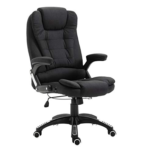 Cherry Tree Furniture Executive Recline Extra Padded Office Chair (Black Fabric)