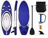 LXDDP Sup Gonflable Stand Up Paddle Board, 6'd'épaisseur, Ensemble iSUP Portable avec Tous Les Accessoires, Parfait pour Le Yoga, la croisière, la pêche
