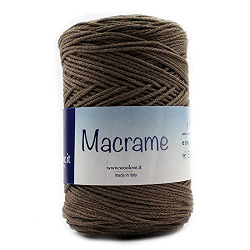 macramè-Cordino Intrecciato in Cotone Biologico Fettuccia da Lavorare all'Uncinetto, macramè ECC