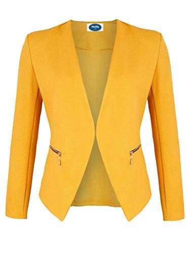 4tuality AO Blazer kragenlos mit Zipper gelb Gr. S