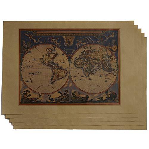 紙製ブックカバー 古地図(カラー) A3判 (クラフト紙)