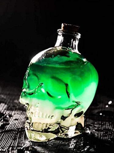 HYJMJJ Jarra de Whisky Whisky Crystal Skull Antter Botella de Vino Oración Mixta Oración Cráneo Vidrio Vidrio Bebida Regalo de Whisky para Hombres