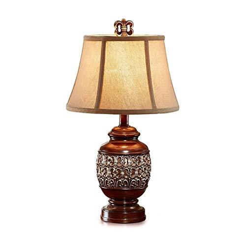 Lámpara de mesa de noche de dormitorio Lámparas de mesa para la lámpara de mesa de noche de dormitorio, escritorio de luz sala de estar dormitorio americano retro cálido pequeño noche luz de aprendiza