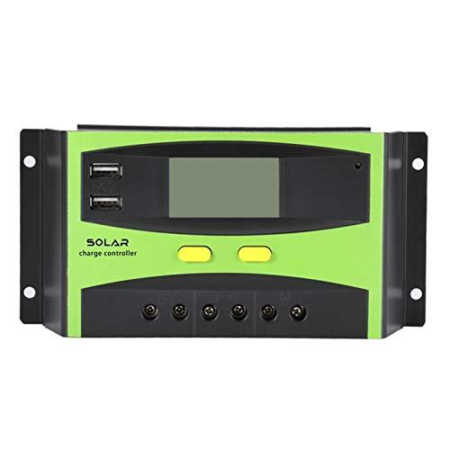 ZBF 30A Controlador Solar PWM 12V 24V Auto 48V Dual 5V Salida USB con regulador de Controlador de Carga de batería Pantalla LCD Envío rápido (Controller Type : Build in Off Grid, Current : 20A)