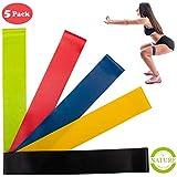 Resistance Bands Set – Yoga Retreat • 5 Fitness-Bänder, verschiedene Stärken • rutsch- &...