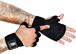 Workout Gloves Grip - Cross Training Gloves - Pull Up Gloves for Men - Pullup Gloves Women - Workout Gloves for Women Wrist Support - Wrist Support Lifting Gloves - Barehand Lifting Gloves