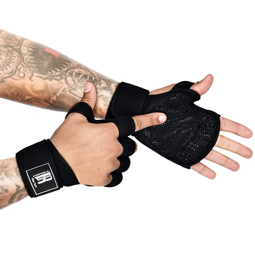 Workout Gloves - Cross Training Gloves with Wrist Support - Weightlifting Gloves - Workout Gloves for Men - Guantes para Gym Mujer - Exercise Gloves - Workout Gloves Mens - Workout Gloves for Women