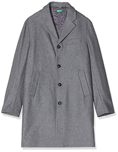 United Colors of Benetton Basico 2 Man Abrigo, Gris (Grigio