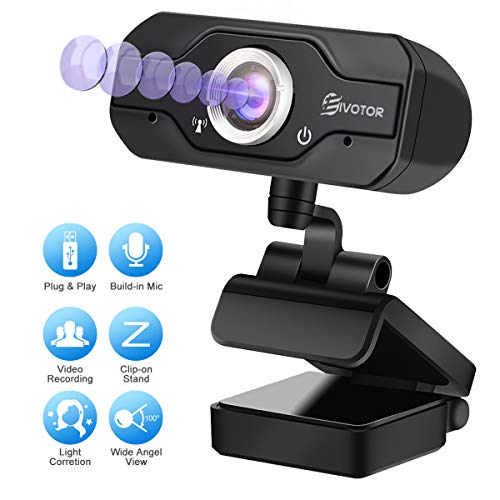 HD Webcam, EIVOTOR PC Webcam 720P USB Mini...
