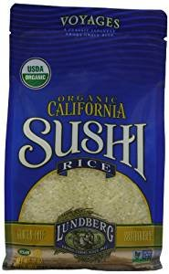 Lundberg Organic California Sushi Rice Gluten Free 32 Oz. Pack Of 3.