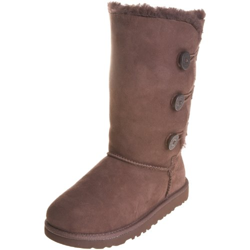 UGG Bailey Button Triplet 1962 Mädchen Boots, Braun (Chocolate), 35 EU