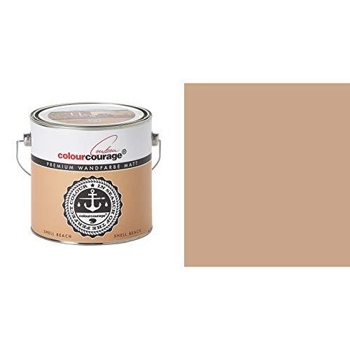 2,5 Liter Colourcourage Premium Wandfarbe Shell Beach Hellbraun | L709449L11 | geruchslos | tropf- und spritzgehemmt