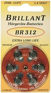 Brillant Typ 312   30 Stück Hörgerätebatterien