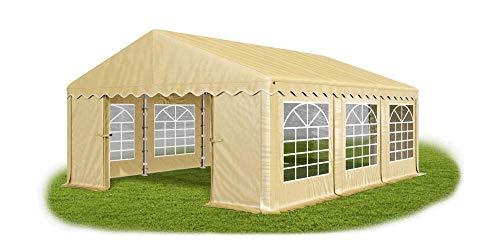 Das Company Partyzelt 3x6m wasserdicht Ecru Zelt 240g/m² PE Plane hochwertig Gartenzelt Summer PE