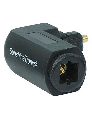 SunshineTronic Winkelstecker für Toslink Kabel, Toslink 90° Winkeladapter, drehbar (1 Stück)
