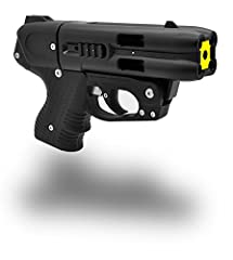 Made in Switzerland Fires up 4 Separate Shots to 23 feet at 590 FPS from the nozzel High Grade OC Solution Not Considered a Firearm by ATF Less-Lethal